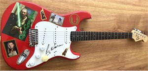 Liam Neeson autographed Star Wars Qui-Gon Jinn Fender Bullet electric guitar