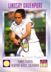 Lindsay Davenport 1997 Sports Illustrated for Kids card