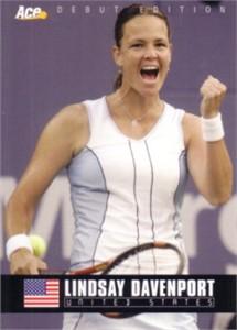 Lindsay Davenport 2005 Ace Authentic card