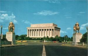 Lincoln Memorial 1960s color postcard