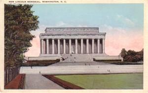 Lincoln Memorial vintage 1920s postcard