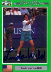 Linda Wild autographed 1991 Netpro tennis card