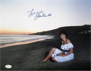 Linda Ronstadt autographed 11x14 beach sunset photo (JSA)