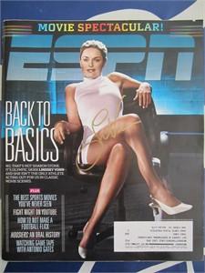 Lindsey Vonn autographed 2010 ESPN Magazine