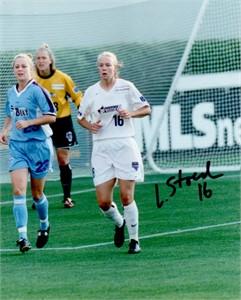 Lindsay Stoecker autographed 8x10 WUSA Washington Freedom photo