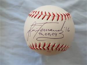 Lisa Fernandez autographed Rawlings official softball
