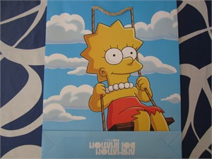 The Simpsons 2014 Comic-Con Fox exclusive Lisa Simpson promo tote bag