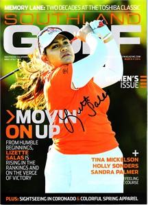 Lizette Salas autographed 2014 Southland Golf magazine