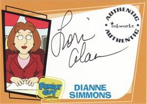 Lori Alan (Diane) Family Guy certified autograph card