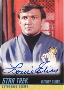 Louie Elias Star Trek certified autograph card