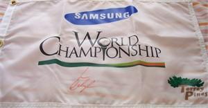 Lorena Ochoa autographed LPGA Samsung World Championship golf pin flag