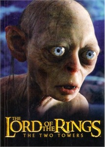 Lord of the Rings The Two Towers movie 2003 promo postcard (Gollum)