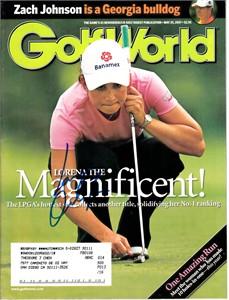 Lorena Ochoa autographed 2007 Golf World magazine