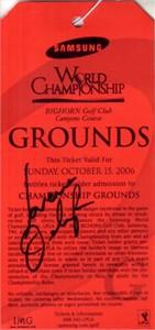 Lorena Ochoa autographed 2006 LPGA Samsung World Championship ticket