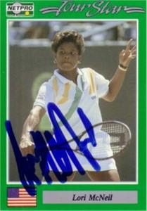 Lori McNeil autographed 1991 Netpro tennis card