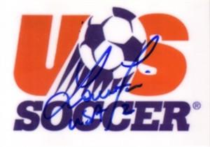 Lorrie Fair autographed U.S. Soccer logo card