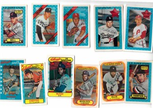 Lot of 11 different 1971-1982 Kelloggs 3-D baseball cards