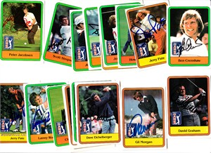Lot of 19 autographed 1981 Donruss golf cards Ben Crenshaw Hubert Green