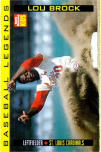 Lou Brock 1998 Sports Illustrated for Kids card