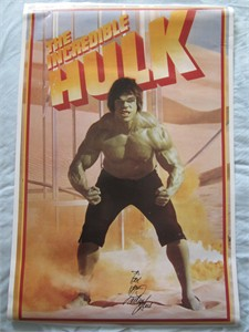 Lou Ferrigno autographed Incredible Hulk 23x35 inch poster (To Eric)