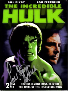 Lou Ferrigno autographed Incredible Hulk movie DVD set inscribed Hulk