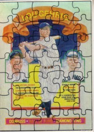 Lou Gehrig puzzle 1985 Donruss box bottom card