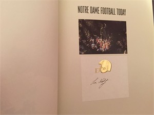 Lou Holtz autographed Notre Dame Football Today hardcover coffee table photo book