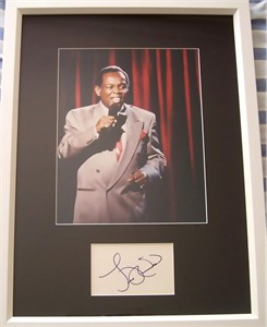 Lou Rawls autograph matted & framed with 8x10 concert photo