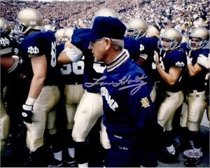 Lou Holtz autographed Notre Dame 8x10 photo (Steiner)