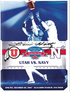 Lou Holtz autographed 2007 Poinsettia Bowl game program
