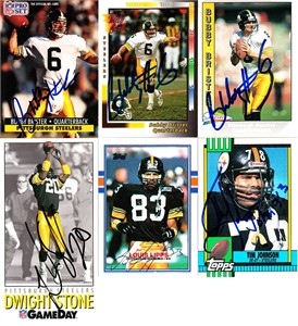 Louis Lipps autographed Pittsburgh Steelers 1989 Topps card