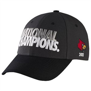 Louisville Cardinals 2013 NCAA Basketball National Champions Nike locker room cap or hat (velcro strap)