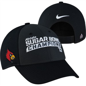 Louisville Cardinals 2013 Allstate Sugar Bowl Champions Nike locker room cap or hat (curved brim)