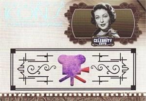 Loretta Young worn clothing swatch Donruss Americana card #20/100
