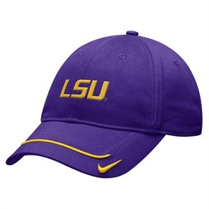 LSU Tigers purple Nike cap or hat NEW
