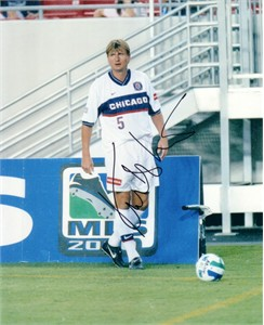 Lubos Kubik autographed MLS Chicago Fire 8x10 photo