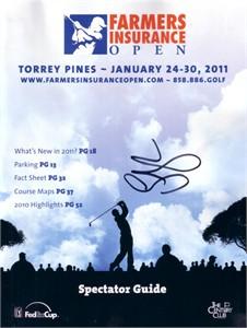 Lucas Glover autographed 2011 Farmers Insurance Open golf program