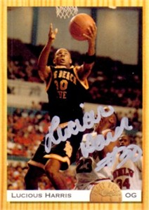 Lucious Harris autographed Long Beach State 1993 Classic card