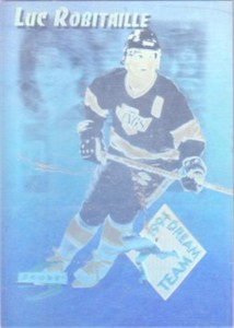 Luc Robitaille Kings 1994-95 Score Dream Team hologram insert card #DT10