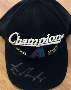 Luis Gonzalez autographed Arizona Diamondbacks 2001 World Series Champions cap