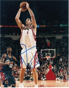 Luis Scola autographed Houston Rockets 8x10 photo
