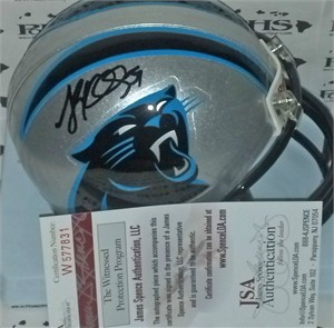 Luke Kuechly autographed Carolina Panthers mini helmet (JSA)