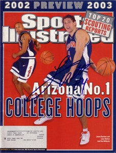 Luke Walton autographed Arizona Wildcats 2002 Sports Illustrated