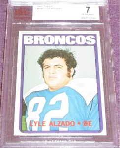 Lyle Alzado 1972 Topps Rookie Card #106 BVG graded 7