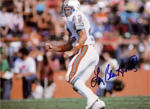 Lyle Blackwood autographed 1984 Miami Dolphins 9x12 inch calendar page