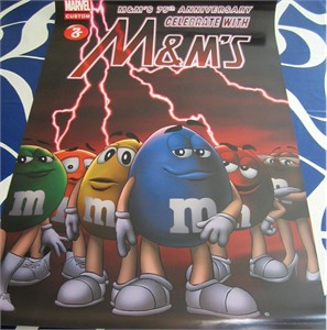 M&Ms 75th Anniversary Marvel 2016 Comic-Con 27x40 inch full size poster