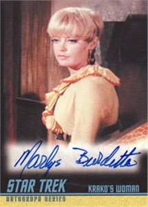 Marlys Burdette Star Trek certified autograph card