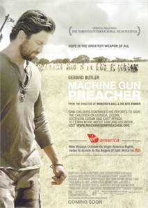 Machine Gun Preacher 2011 movie 5x7 promo card (Gerard Butler)