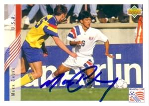 Mark Chung autographed U.S. Soccer 1994 Upper Deck card