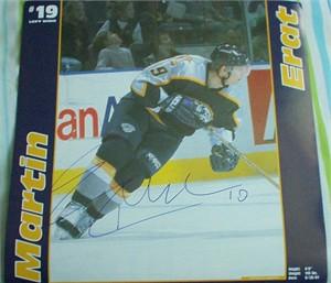 Martin Erat autographed Nashville Predators calendar page photo